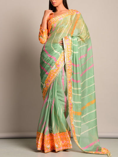 Leheriya, Saree, Printed, Sarees, Chiffon, Traditional, Monsoon Ocassion, Traditional Wear, Rajasthani, Jaipuri, Patola