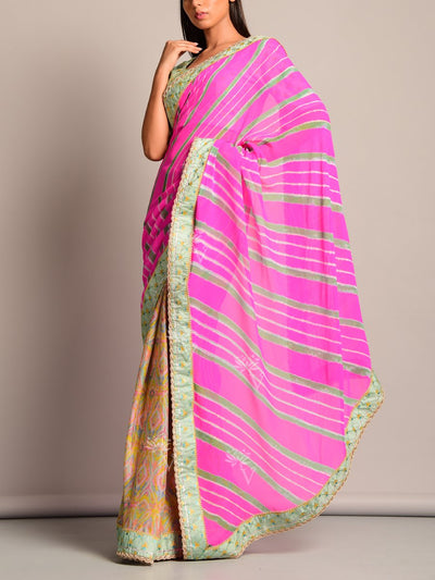 Leheriya, Saree, Printed, Sarees, Chiffon, Traditional, Monsoon Ocassion, Traditional Wear, Rajasthani, Jaipuri