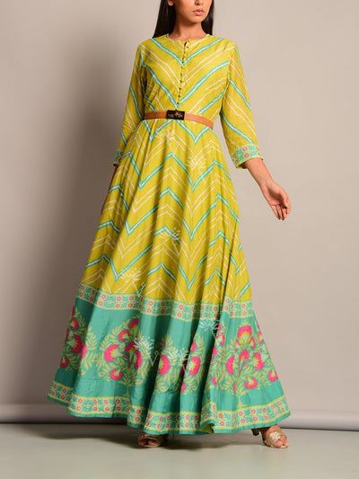 Anarkali, Anarkalis, DD28, Festive Wear, Floor Length, Gangour, lehariya, Leheriya, Light Weight, Monsoon, MTO, Printed, Rakhi, Raksha Bandhan, Silk, Suit, Teej, Traditional, Traditional Wear, VK, bestseller