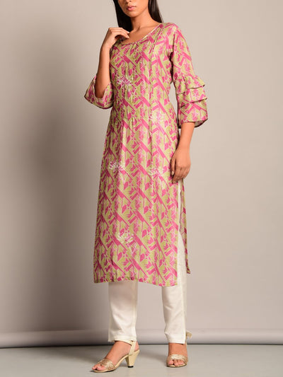 Silk Blend, Kurti, Kurtis, Printed, Regular Work, Casual, Short Kurti, Tunic
