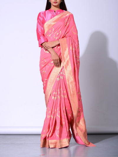 Saree, Sarees, Chiffon, Dola silk, Traditional, Traditional wear, Traditional outfit, Weaving, Banarasi