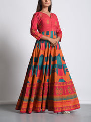 Anarkali, Anarkalis, Gown, Gowns, Printed, Traditional, Traditional wear, Traditional outfit, Lightweight, MTO, DD28