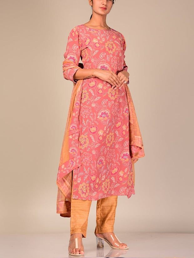 Kurta, Kurti, Kurta Set, Suit Set, Suit, Silk, Cotton, Chanderi, Straight, Formal, Traditional