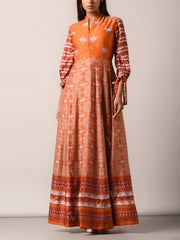 Anarkali, Anarkalis, Gown, Gowns, Silk, Printed, Traditional, Traditional wear, Traditional outfit, Light weight