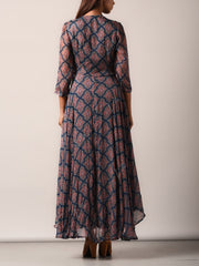 Dress, Dresses, Flowy, Geometrical, Chiffon, Printed, Light weight, Western, Westerns