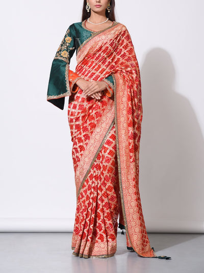 Saree, Sarees, Traditional wear, Traditional outfit, Traditional, Festive wear, Party wear, Georgette, Pure georgette, 100% georgette, Zari, Power loom, Handloom, Weaving, Heavy blouse, Heavy
