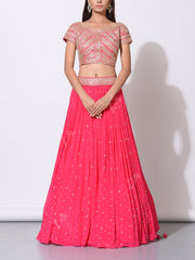 Lehenga, Lehengas, Traditional, Traditional wear, Embroidered, Embellished, Party wear, Light weight, Designer wear, Heavy blouse