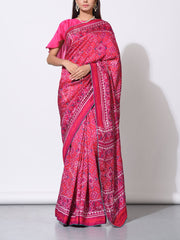 Saree, Sarees, Vasansi Silk, Silk, Printed, Traditional, Traditional wear, Traditional outfit, Light weight, Patola