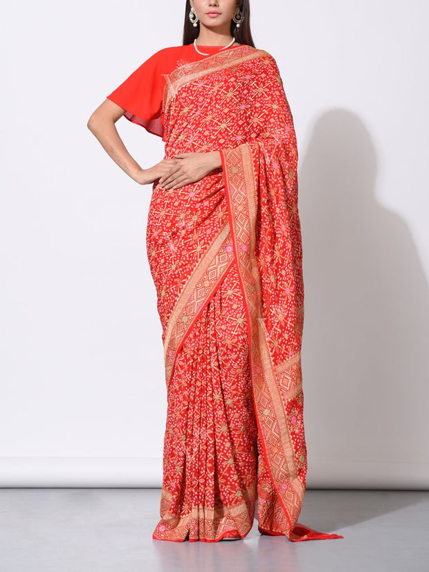 Saree, Sarees, Traditional, Traditional wear, Traditional outfit, Zari, Handloom, Weaving, Pure Georgette, Georgette, 100% georgette