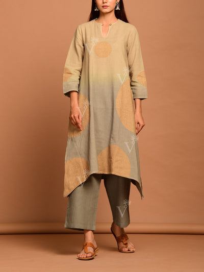 Suit, Suits, Suit set, Printed, Patola, Party wear, Light weight, Kurti, Kurta set, Linen, Asymmetric, Ombre, Shaded