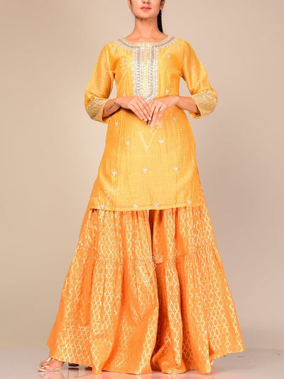 Sharara, Sharara Set, Kurta, Kurti, Kurta Set, Suit Set, Suit, Silk, Cotton, Chanderi, Straight, Formal, Traditional