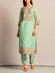 Kurta, Kurta Set, Suit, Kurti, Traditional, Printed, Pastel, Light Weight, Silk, Silk Kurti, Festive Wear
