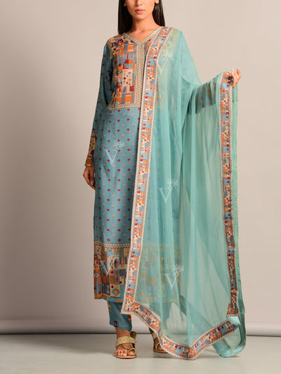 Kurta, Kurta Set, Suit, Kurti, Traditional, Printed, Pastel, Light Weight, Silk, Silk Kurti, Casual Wear