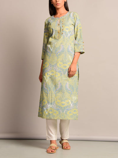 Kurti, Kurits, Regular Wear, Embroidered, Casual Wear, Solid, Traditional, Traditional Wear, Cotton, Cotton Kurti