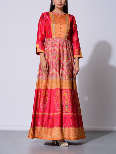 Anarkali, Anarkalis, Gown, Gowns, Traditional wear, Traditional outfit, Traditional, Light weight, Vasansi silk, Silk, MTO, U1, DD28
