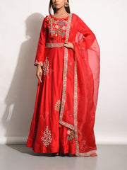 Gown, Gowns, Traditional, Traditional wear, Traditional outfit, Anarkali, Anarkalis, Leheriya, Embellished, Embroidered, Flowy, Party wear, Designer wear, Heavy, Silk gown, Silk, MTO, DD28