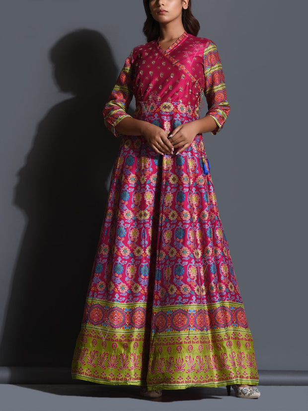 Anarkali, Anarkalis, Gown, Gowns, Printed, Bandhani, Bandhej, Lightweight, Flowy, Festive wear, Traditional wear, Traditional, Traditional outfit, Ethnic wear,  _label_NEW