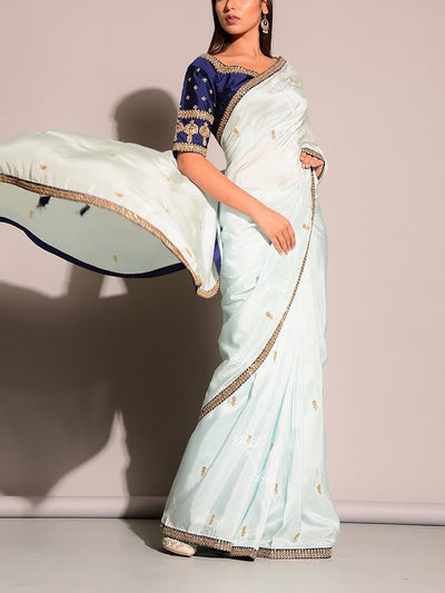 Blue Dola Silk Saree