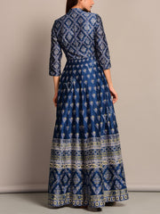 Anarkali, Anarkalis, Suit, Gown, Gowns, Silk, Silk Suit, Floor Length, Printed, Light Wear, Long Kurti, Party Wear