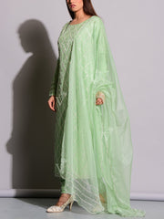 Mint Green Silk Suit Set