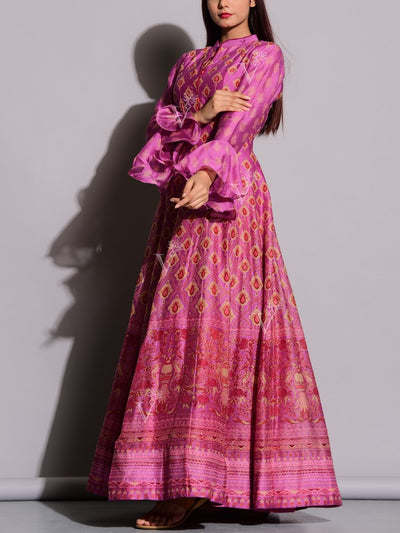 Mulberry Printed Anarkali Tunic