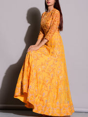 Yellow Anarkali Gown