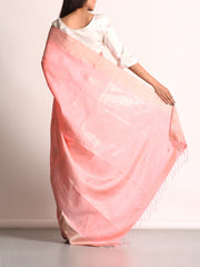 Flamingo Pink Banarasi Silk Hand loom Saree