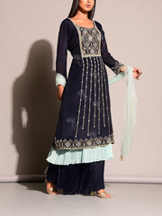 Blue Salwar Suit