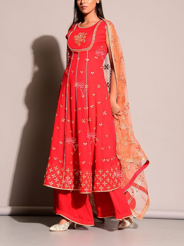 Red Salwar Suit
