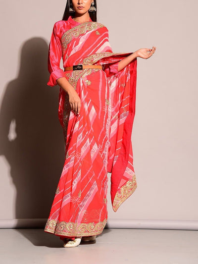 Sarees, Lehariya Saree, Traditional Wear, Gotta Patti, Georgette, Lehariya