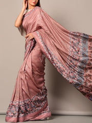 Blush Printed Silk Saree
