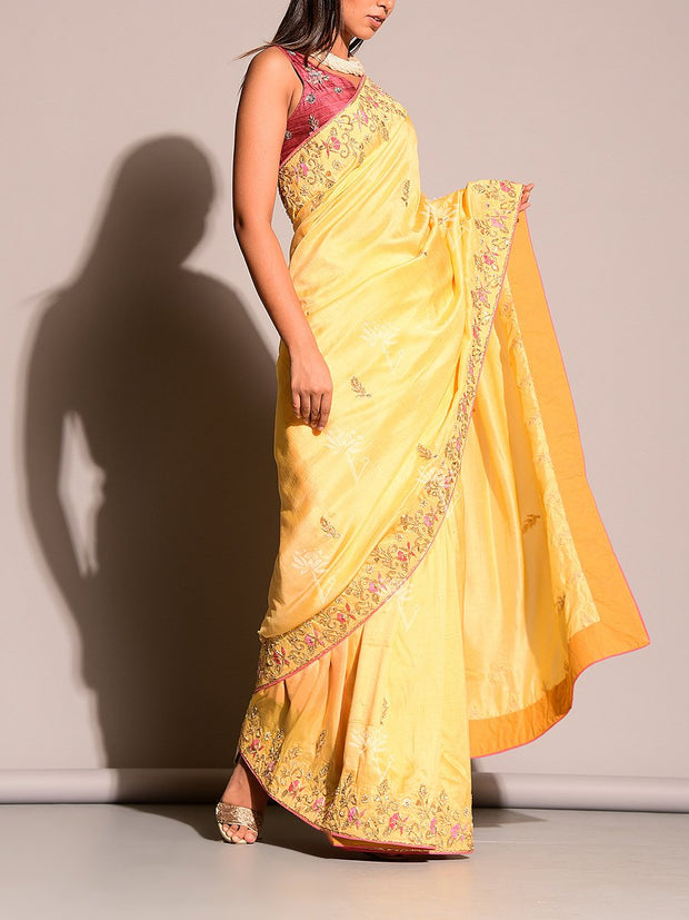 Yellow Gotta Patti Saree