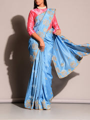 Blue  Gotta Patti Saree