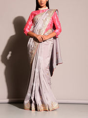 Grey Gotta Patti Saree