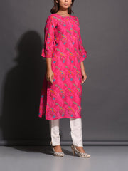 Kurti, Kurta, Kurtis, Traditional, Traditional wear, Traditional outfit, Printed, Silk, Silk kurti, Regular wear, Casual wear