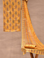 Suit Set, Printed, Cotton, Chanderi