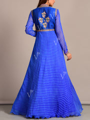Blue Leheriya Suit Set