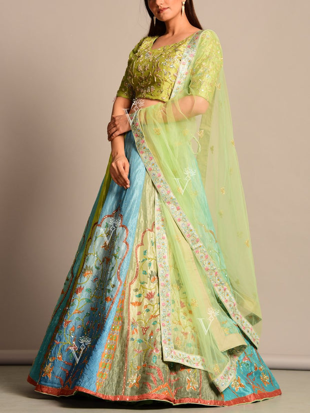 Lehenga , Lehengas, Printed, Vasansi, Silk, Party wear, Light weight, Bridesmaids, Wedding outfit, Designer wear, Festive wear, Navratri, Navratra, Chanaya choli