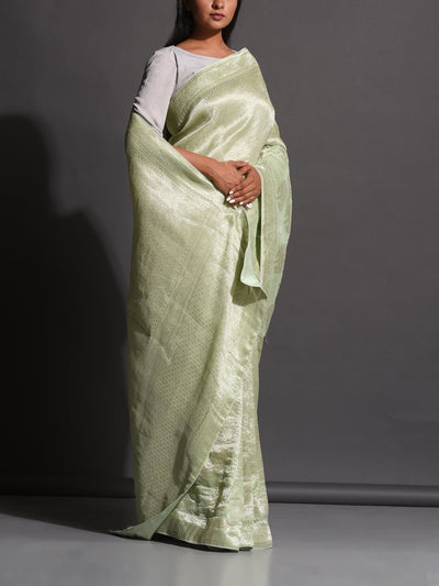 Mint Green Dola Silk Powerloom Saree