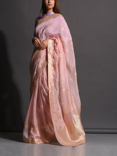 Lilac Dola Silk Powerloom Saree
