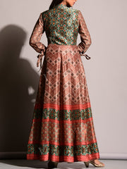 Brown Vasansi Silk Gown