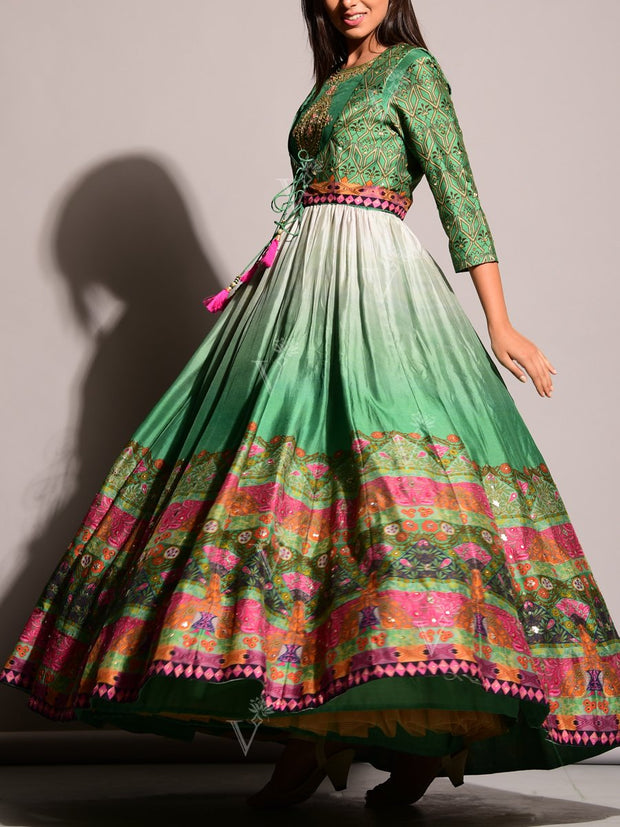 Green Anarkali Gowns