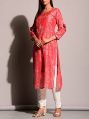 Carrot Highlighted Kurti
