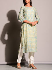 Off White Highlighted Kurti