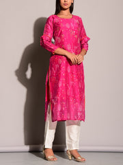 Pink Highlighted Kurti