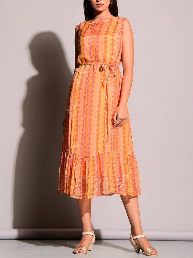 Orange Koashee Dress
