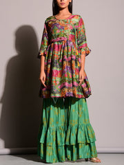 Multi Color Printed Sharara Set