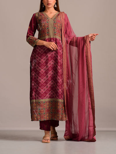 Cotton Silk Printed Suit Set