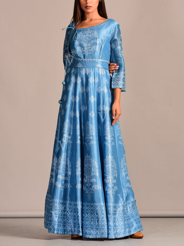 Anarkali, Anarklais, Anarkali set, Printed, Floor length, Party wear, Casual, Angrakha, Silk, Traditional wear