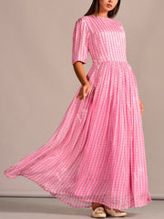 Dress, Dresses, Western Dress, Pastel, Printed, Summer, Regular Wear, Casual Wear, Light Weight, Floor Length, Anarkali, Tunic, Crepe